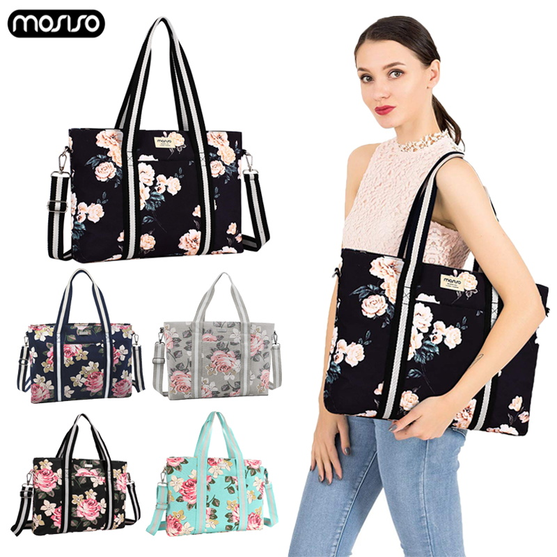 MOSISO <font><b>Laptop</b></font> <font><b>Bag</b></font> 15.6 <font><b>17.3</b></font> Inch Canvas Notebook <font><b>Bag</b></font> for Macbook Dell HP Lenovo Asus Computer Briefcase Messenger Shoulder <font><b>Bag</b></font> image