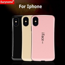 Shockproof Case For Iphone X XS MAX XR Iface Mall Mosaic Curve Plastic Anti-Skid TPU Cover Case For IPhone XS Max XR Screen Film