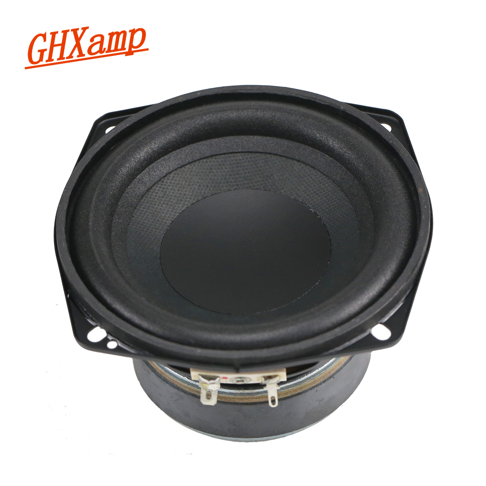 GHXAMP 4.5 inch 4OHM 50W Subwoofer Speaker Woofer 30 Core Voice Coil Wrinkled Cone Foam Side High Power Speaker 1PCS ghxamp 3 inch 4ohm 30w midrange speaker car speaker mid human voice sound good loudspeaker for lg diy 2pcs