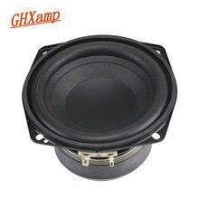 Alto-falante woofer ghxamp, 4.5 polegadas, 4ohm, 50w, 30 núcleo, bobina de voz, cone enruhado, alto-falante de alta potência 1 peça