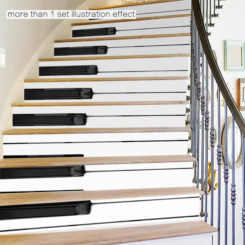 funlife teclas del piano de la escalera pegatinas pvc accesorios decorativos diy impermeable mural cartel de
