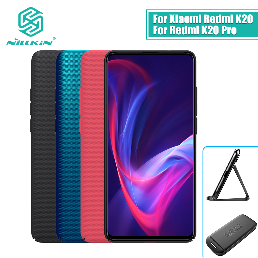 For xiaomi redmi k20 pro case cover 6.39 NILLKIN Frosted PC Matte back cover Phone Holder Redmi K20 For xiaomi Mi 9T 9T Pro Case