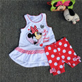 12 M Bebé Minnie Muchachas del Vestido del chaleco y Legging, minnie mouse vestido ang pantalones dos conjuntos de piezas