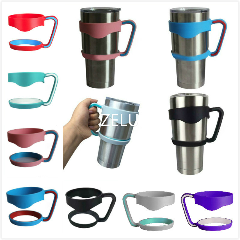 Universal Standard Multicolor <font><b>Cup</b></font> Holders For 30oz <font><b>Yeti</b></font> <font><b>cup</b></font> Stainless Steel Insulated Tumbler Mug Handle Drop Free Shipping