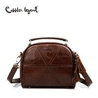 Cobbler Legend Tassel Women Messenger Bags Female Genuine Leather Totes Patchwork Designer Handbags Women Crossbody Bag