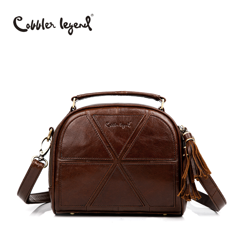 Cobbler Legend Tassel Women Messenger Bags Female Genuine Leather Totes Patchwork Designer Handbags Women Crossbody Bag Small cobbler legend 2015 messenger 100