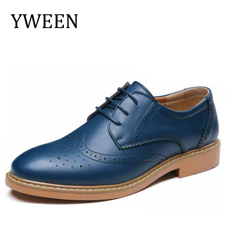 YWEEN Spring Autumn Men's Shoes Man Leather Footwear Casual Shoes Fashion Men Oxford Round Toe Office Classical Men Dress Shoes new 2016 medium b m massage top fashion brand man footwear men s shoes for men daily casual spring man s free shipping