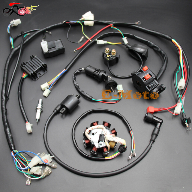 110 Atv Wiring Diagram Magneto Complete Electrics Atv Quad 150cc 200cc 250cc 300cc