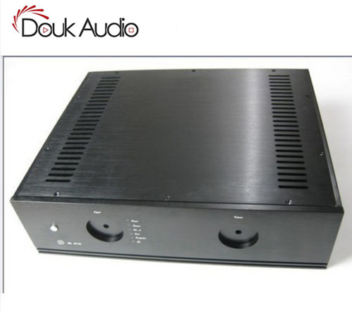 Boîtier de Circuit intégré en aluminium pour châssis de préamplificateur noir Douk Audio