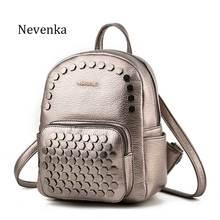 Nevenka Fashion Women Bag Mini School Backpack PU Leather Student Shoulder Casual Female Backpacks For Preppy Teenagers Girl Sac