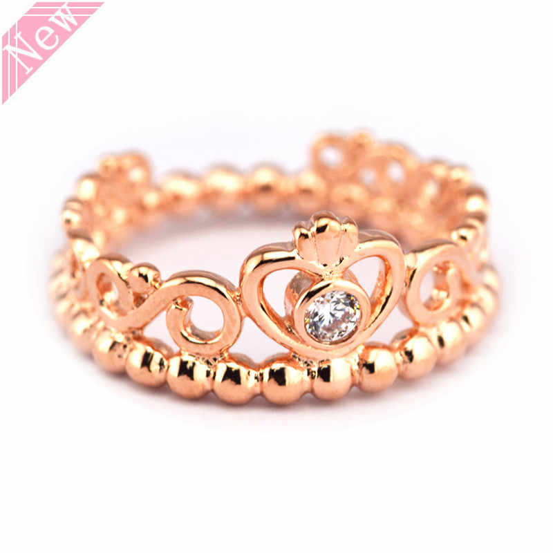 e858afa4c New Arrival Innovative 14ct Rose Gold My Princess Tiara Rings for Women  Fine Jewelry Feature Shining