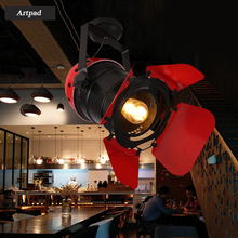 Artpad Red Black Vintage Industrial Ceiling Lamp Coffee Bar Clothes Gallery Home Lighting E27 LED Ceiling Light Fixtures trazos adjustable ceiling lights corridor lamp metal led ceiling mount bulbs light e27 coffee bar lamps home lighting fixtures