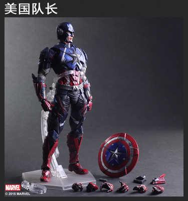 Anime filme jogar artes kai homem de ferro homem aranha veneno capitão américa deadpool pa kai 27cm pvc figura de ação boneca brinquedos brinquedos