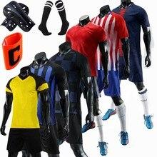 db74ffc7af8 Men Kids Soccer Jerseys Set Football kit Training Suits Uniform for blank  custom Teens team game