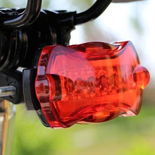 Bike Light Waterproof 5 LED Bike Taillight Head Lamp Safety Warning Light Bicycle Rear Light Tail Bicycle Accessories bike bicycle handlebar 5 led white light headlamp 5 led rear tail warning light set grey red