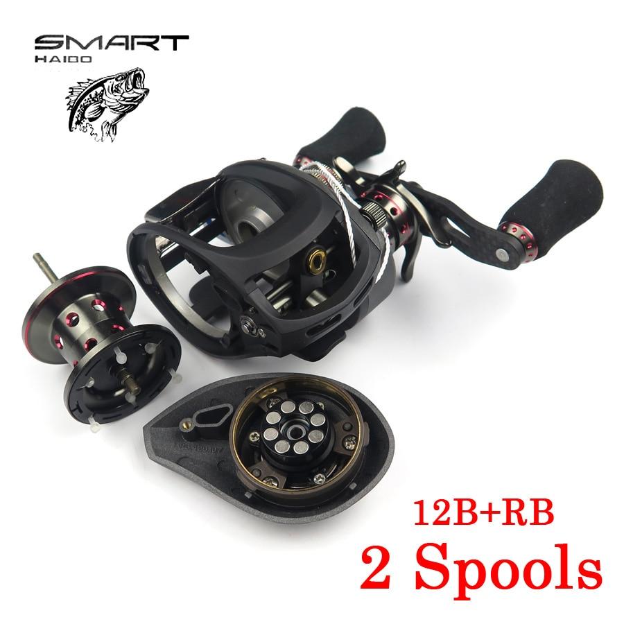 1pcs high strength Haibo SMART baitcasting fishing reel left/right hand 6.5:1 12+1BB baitcasting reel