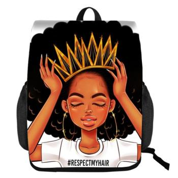Black Queen African American Girl School Bags for Teenagers  1