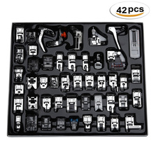 32/42PCS Domestic Sewing Machine Presser Foot Set With Box For Brother Singer Janome Machines Tools Accessory