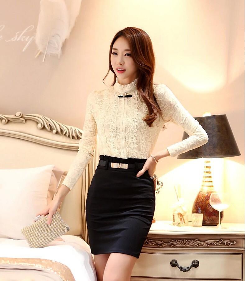 HTB1GlHCGVXXXXa.XVXXq6xXFXXXR - New Lace Shirt Women Clothing Blusas Femininas Blouses