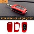 ABS Оболочки Дистанционного Ключа Автомобиля Замена Случая крышки Планки для Audi A6L Q3 Q7 TT R8 A1 A3 S3