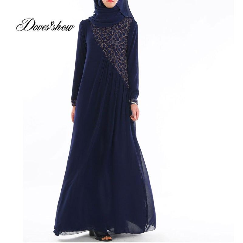 Fashion Muslim Lace Dress Abaya Islamic Clothing For Women Jilbab Djellaba Robe Musulmane Turkish Baju Robe