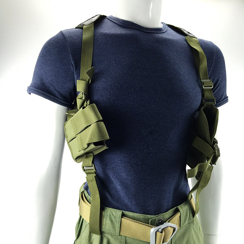New Style! Universal Hunting Bag Tactical Ajustable Shoulder Holster Pistol Armpit Pouch Gun Holster Rig Gun Accessories