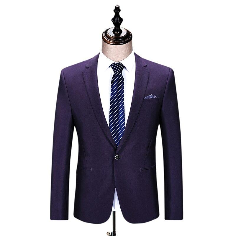 Pantalon Vêtements Haute Costume Mens Gentleman D'affaires Hommes Usage Blazer D'étape De Gent Mariage Style Cérémonie Purple veste Deep Vie Qualité wOqdpn1wA