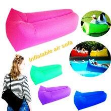 Air sofa Fast Inflatable Laybag Hangout Air Sofas Camping Sleeping Bag Beach Sofa Lounger Bed Square Lazy air bags Lay Bag sofa