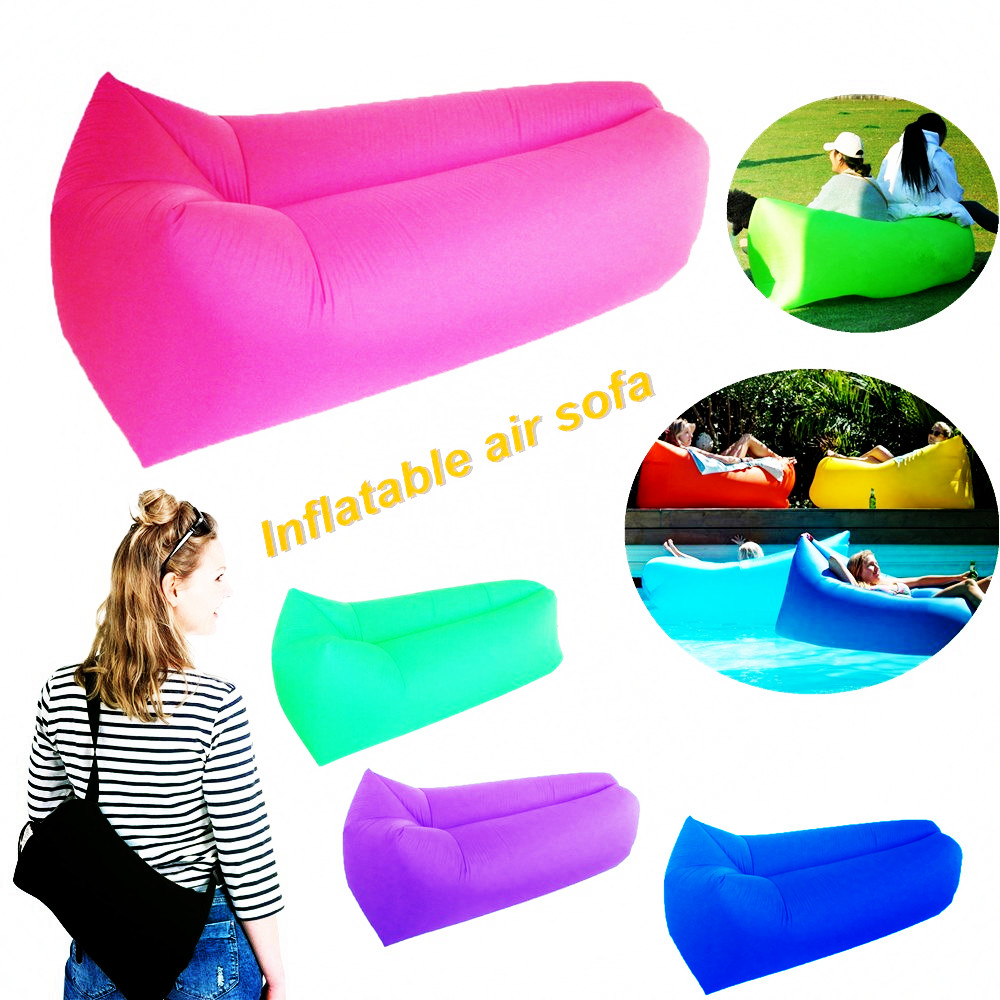 Air sofa Fast Inflatable Laybag Hangout Air Sofas Camping Sleeping Bag Beach Sofa Lounger Bed Square Lazy air bags Lay Bag sofa