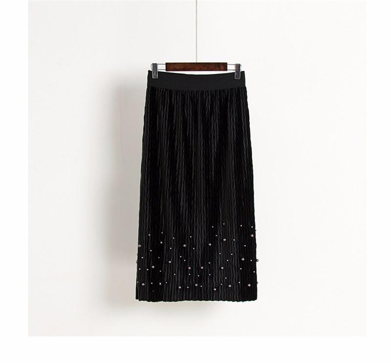 women velvet skirt 05