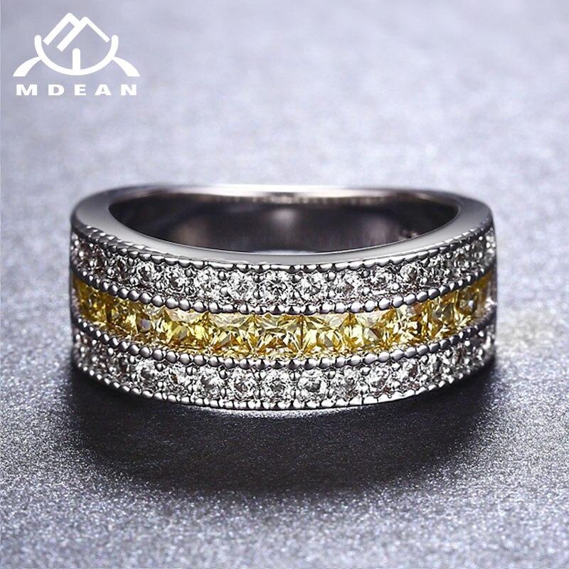 MDEAN սպիտակ ոսկե գույնի օղակներ կանանց - Նորաձև զարդեր - Լուսանկար 6