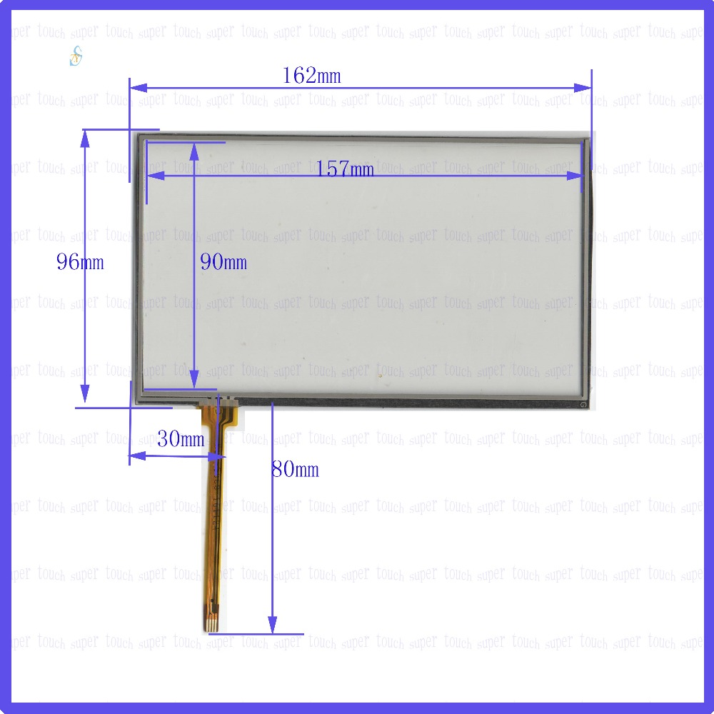 ZhiYuSun POST  KDT-5068 7 inch 4-wire resistive touch panel for Car DVD, 162*96 GPS 162mm*96mm this is compatible цена и фото