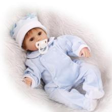 купить 17 Inch Soft Silicone Reborn Dolls Realistic Newborn Baby Girl For Sale Lifelike Baby Alive Dolls Kids Playmate Birthday Gift дешево