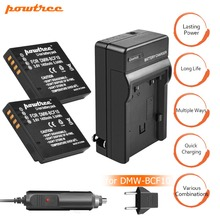 2Packs DMW-BCF10 Li-ion Battery 3.6V 1400mAh +Battery Charger+Car charger  For Panasonic DMW-BCF10E DMW BCF10 DMC-FS1 L20