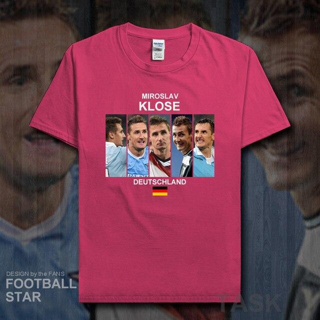44cee8565f2ef Miroslav Klose t camisa 2018 jerseys Alemanha jogador de futebol estrela  camiseta 100% algodão t