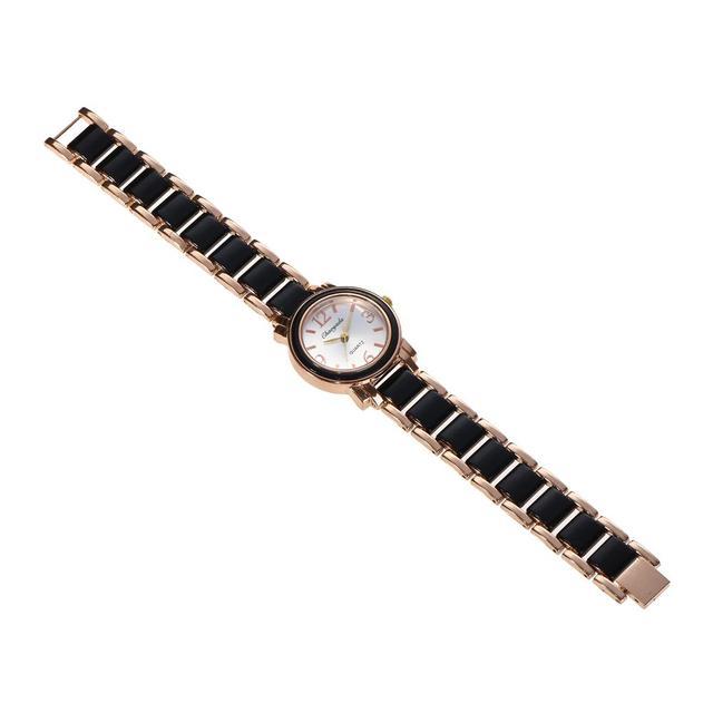 CYD Brand Women Bracelet Watches Office Lady Fashion Dress Quartz Watch White Simulated Ceramics Wristwatches Waterproof Clock