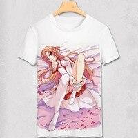 Zwaard Art Online T-shirt Yuki Asuna T-shirt SAO T-shirt SAO Sword Art Online Kirito Kazuto Kirigaya Zomer Mannen Vrouwen Top Tee