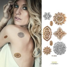 golden tatto body art  metallic temporary tattoo jewelry bracelet flash tattoo gold tatoo  VH0235 2016 unique european style taty tattoo glitter body art golden temporary tattoo metallic tongue flower bracelet tatoo designs