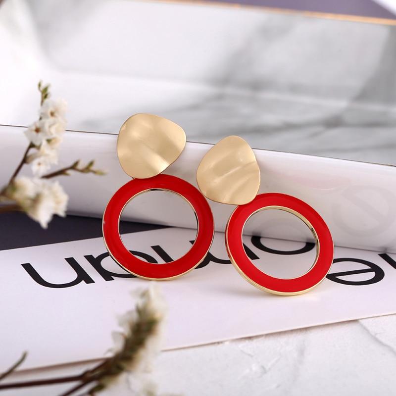 Korean Vintage Round Heart Drop Earring for Women