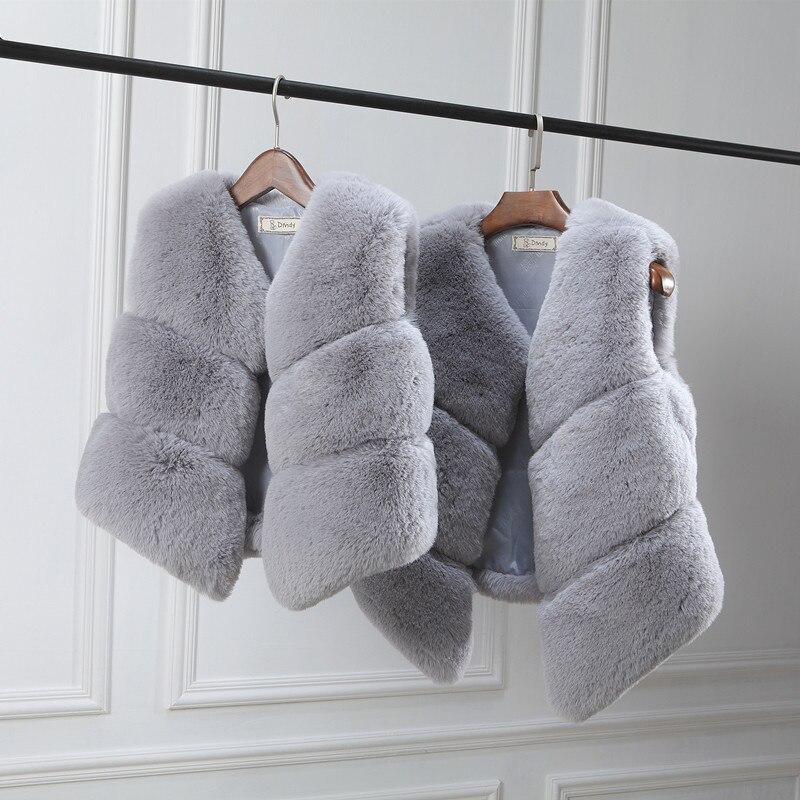 Maman filles bébé mère et fille correspondant vêtements automne hiver fourrure gilet enfant fourrure manteau gilet famille mère fille tenues
