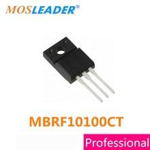 MBRF10100CT Mosleader TO220F 100 PCS MBRF10100C MBRF10100 10A 100 V de Alta qualidade