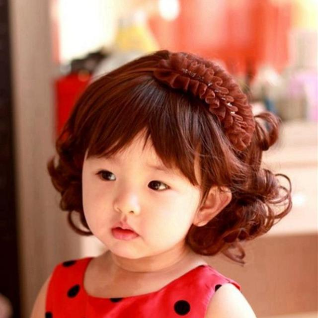 2015 Lovely Girl Curly Wig Fashion Cute Short Haircuts Wig For Girl