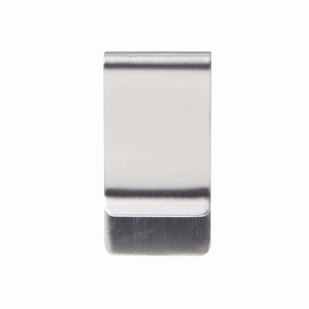 Thinkthendo Kualitas Tinggi Perak Warna Slim Klip Uang Dompet Kartu Kredit Baru Stainless Steel