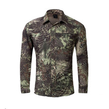 New 2016 Mens Military Style Tactical Shirt Camisa Men Long Sleeve Summer Combat Shirts Male Camouflage Quick Dry Combat Shirts