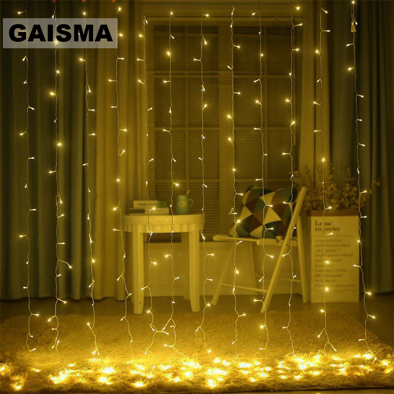 6M X 2/3/4/5M LED Wedding Decorations Curtain Lights Garland Christmas Fairy Lights Party New Year Garden Holiday Lighting