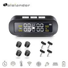 цены Wireless Solar TPMS Car Tire Pressure  Monitoring System Display Smart Temperature Warning External/Internal 4 Sensors tpms