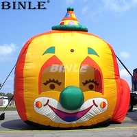 Attractive 6mH large outdoor inflatable clown head balloon for halloween decoration