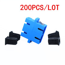 200 stücke SC SC Fiber Adapter Stecker duplex koppler