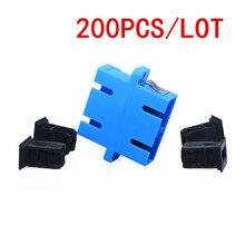 200 stks SC SC Fiber Adapter Connector duplex coupler