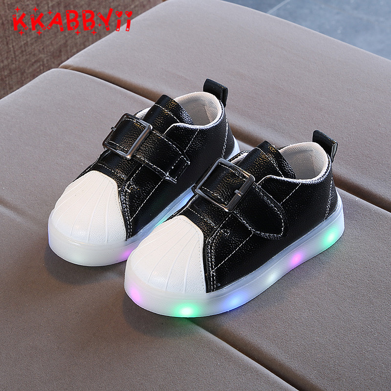 New Spring Autumn Kids Glowing Sneakers Children Lights Up Luminous Shoes Girls Boys Fashion Shoes Pink White Black EU 21-30 ...